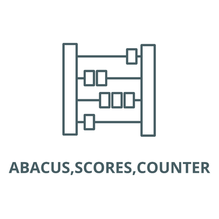 Abacus,scores,counter line icon, vector. Abacus,scores,counter outline sign, concept symbol, illustration