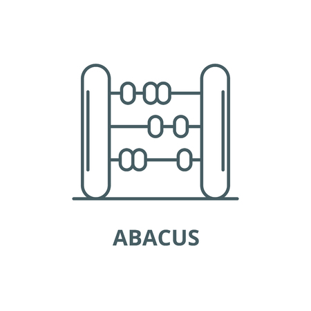 Abacus line icon, vector. Abacus outline sign, concept symbol, illustration