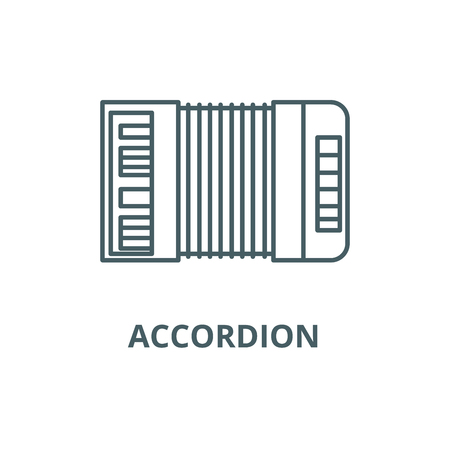 Accordion line icon, vector. Accordion outline sign, concept symbol, illustration Illustration