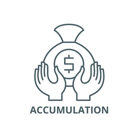 Accumulation line icon, vector. Accumulation outline sign, concept symbol, illustration Vector Illustration