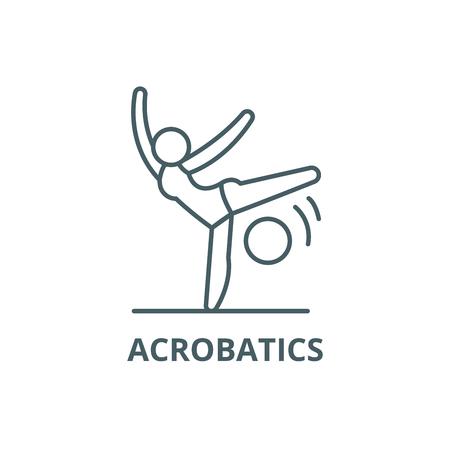 Acrobatics line icon, vector. Acrobatics outline sign, concept symbol, illustration