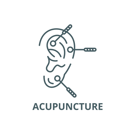 Acupuncture line icon, vector. Acupuncture outline sign, concept symbol, illustration
