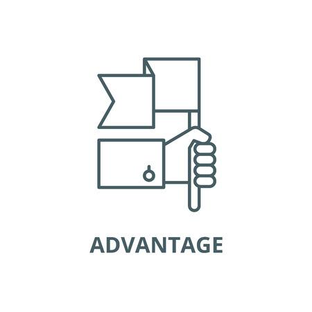 Advantage line icon, vector. Advantage outline sign, concept symbol, illustration
