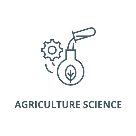 Agriculture science line icon, vector. Agriculture science outline sign, concept symbol, illustration