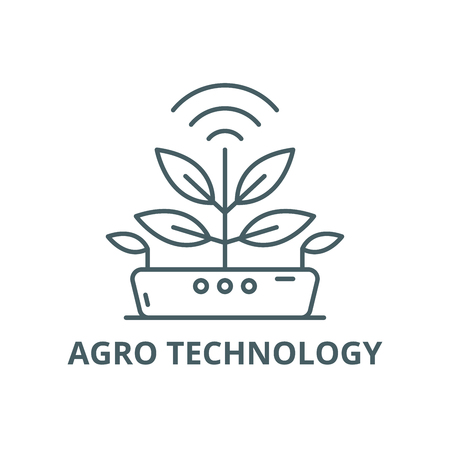 Agro technology line icon, vector. Agro technology outline sign, concept symbol, illustration