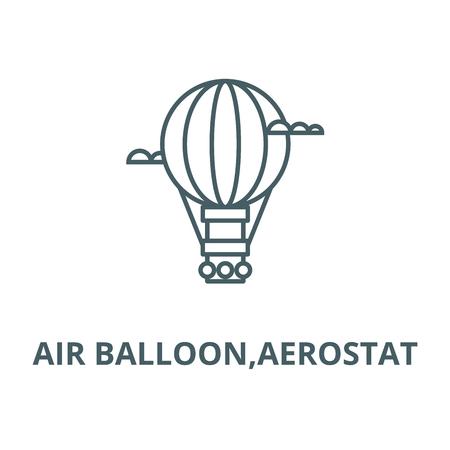 Air balloon,aerostat line icon, vector. Air balloon,aerostat outline sign, concept symbol, illustration