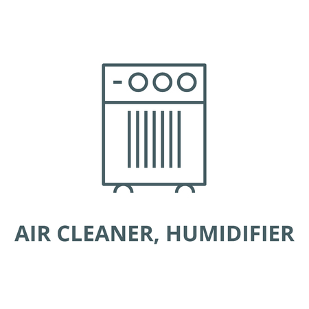 Air cleaner, humidifier line icon, vector. Air cleaner, humidifier outline sign, concept symbol, illustration Illustration