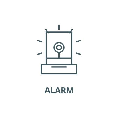Alarm,light, industry line icon, vector. Alarm,light, industry outline sign, concept symbol, illustration Banque d'images - 120731742