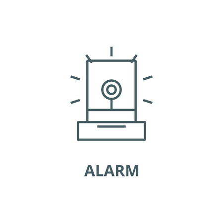 Alarm,light, industry line icon, vector. Alarm,light, industry outline sign, concept symbol, illustration