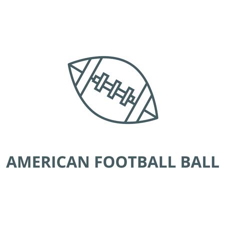 American football ball line icon, vector. American football ball outline sign, concept symbol, illustration Illustration