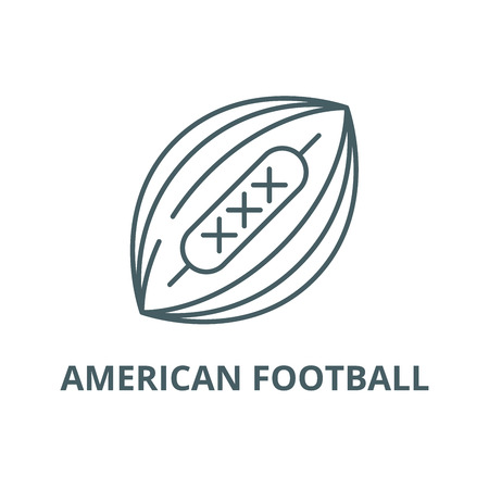 American football line icon, vector. American football outline sign, concept symbol, illustration