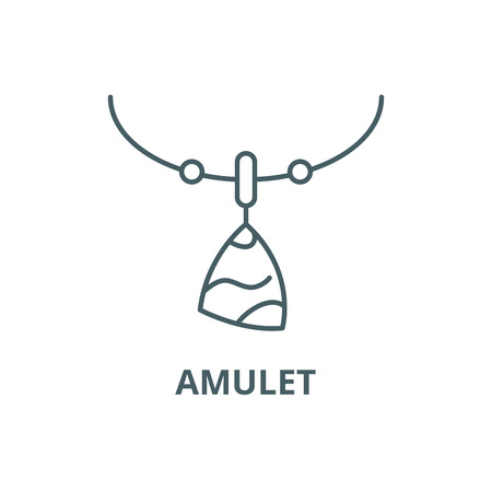 Amulet line icon, vector. Amulet outline sign, concept symbol, illustration