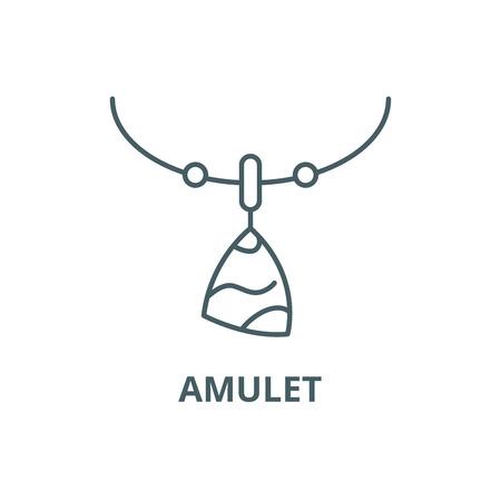 Amulet line icon, vector. Amulet outline sign, concept symbol, illustration