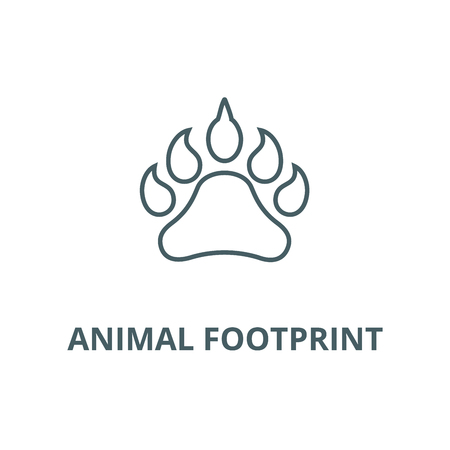 Animal footprint line icon, vector. Animal footprint outline sign, concept symbol, illustration