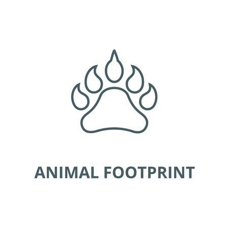 Animal footprint line icon, vector. Animal footprint outline sign, concept symbol, illustration