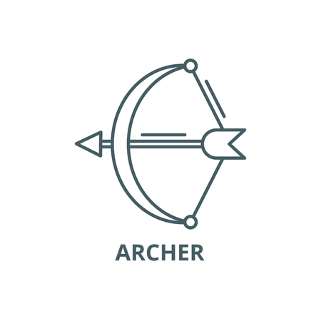 Archer line icon, vector. Archer outline sign, concept symbol, illustration