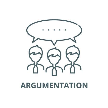 Argumentation line icon, vector. Argumentation outline sign, concept symbol, illustration Ilustração