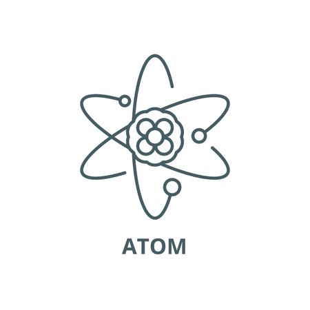 Atom line icon, vector. Atom outline sign, concept symbol, illustration