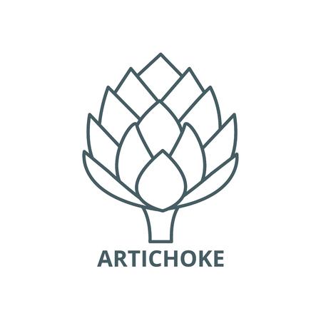 Artichoke line icon, vector. Artichoke outline sign, concept symbol, illustration Stock Illustratie