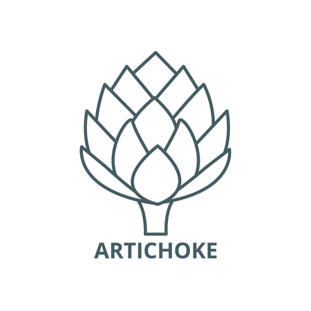 Artichoke line icon, vector. Artichoke outline sign, concept symbol, illustration Illustration