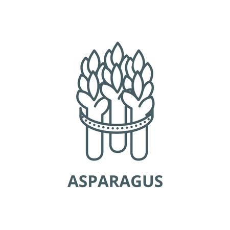 Icône de ligne d'asperges, vecteur. Signe de contour d'asperges, symbole de concept, illustration