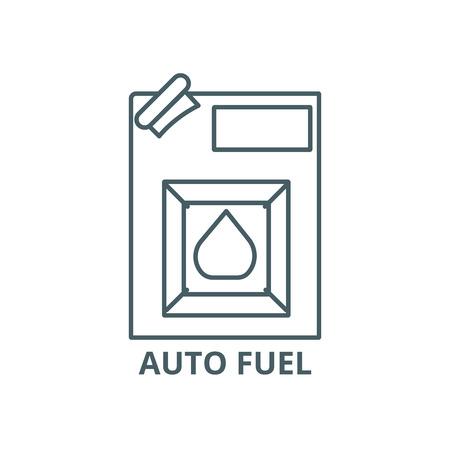 Auto fuel line icon, vector. Auto fuel outline sign, concept symbol, illustration Illustration