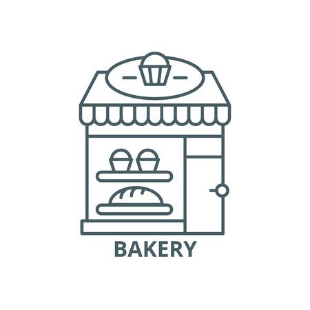Bakery line icon, vector. Bakery outline sign, concept symbol, illustration Vettoriali