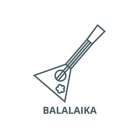 Balalaika Symbol Leitung, Vektor. Balalaika-Umrisszeichen, Konzeptsymbol, Illustration
