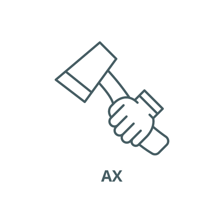 Ax line icon, vector. Ax outline sign, concept symbol, illustration
