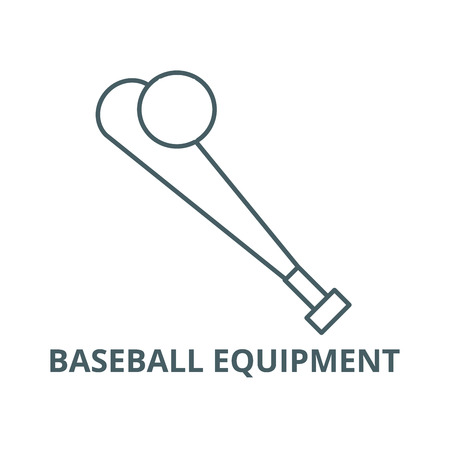 Baseball equipment line icon, vector. Baseball equipment outline sign, concept symbol, illustration Illustration
