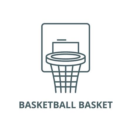 Basketball basket line icon, vector. Basketball basket outline sign, concept symbol, illustration
