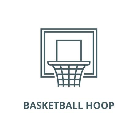 Basketball hoop line icon, vector. Basketball hoop outline sign, concept symbol, illustration Illustration