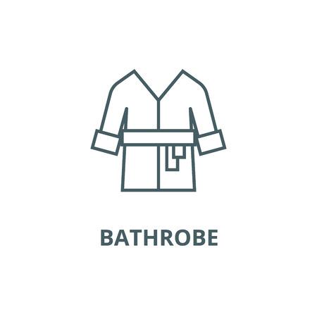 Peignoir, spa, icône de la ligne d'accueil, vecteur. Peignoir, spa, maison contour signe, symbole de concept, illustration Vecteurs