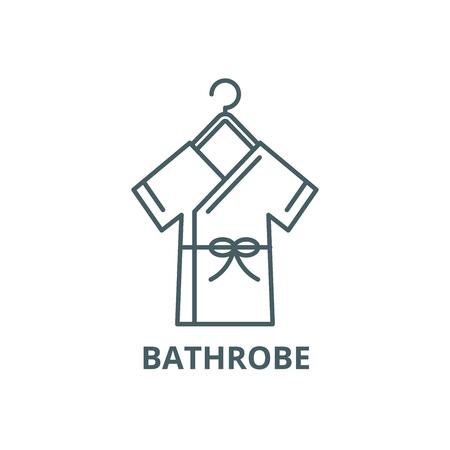 Bathrobe line icon, vector. Bathrobe outline sign, concept symbol, illustration
