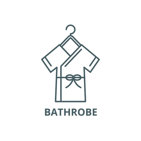 Bathrobe line icon, vector. Bathrobe outline sign, concept symbol, illustration