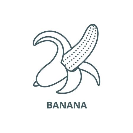 Banana line icon, vector. Banana outline sign, concept symbol, illustration Foto de archivo - 120732605