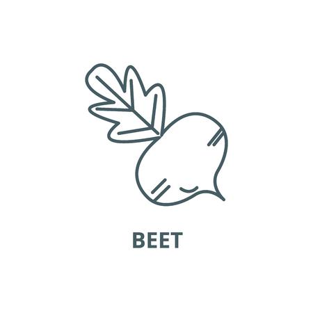 Beet line icon, vector. Beet outline sign, concept symbol, illustration