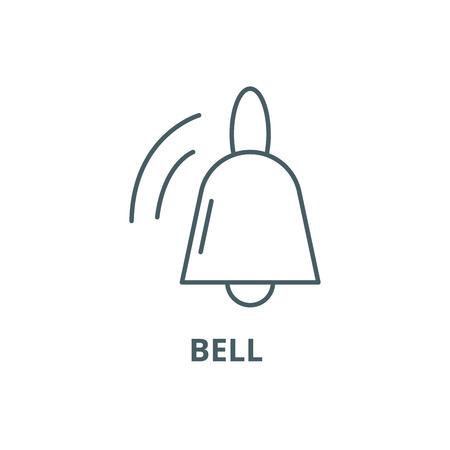 Bell line icon, vector. Bell outline sign, concept symbol, illustration