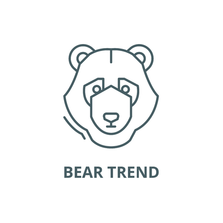Bear trend line icon, vector. Bear trend outline sign, concept symbol, illustration