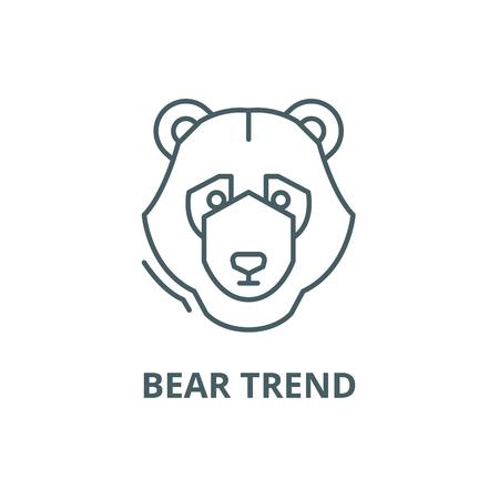 Bear trend line icon, vector. Bear trend outline sign, concept symbol, illustration