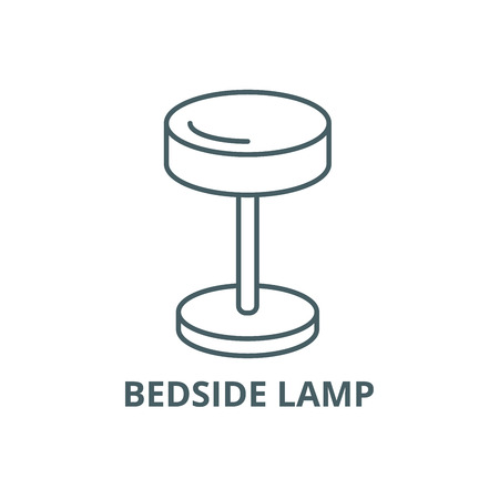 Bedside lamp line icon, vector. Bedside lamp outline sign, concept symbol, illustration