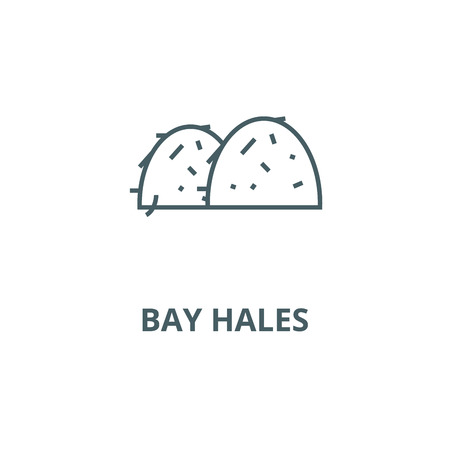 Bay hales line icon, vector. Bay hales outline sign, concept symbol, illustration