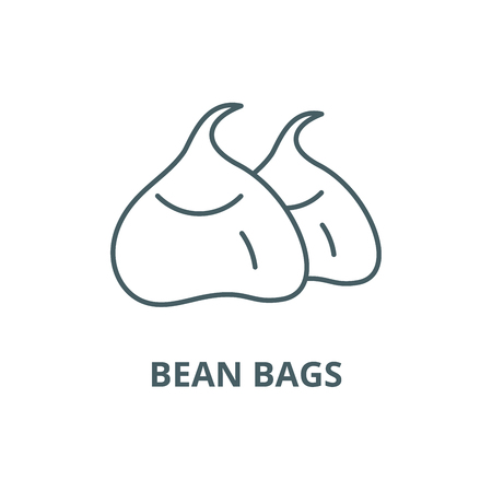 Bean bags line icon, vector. Bean bags outline sign, concept symbol, illustration