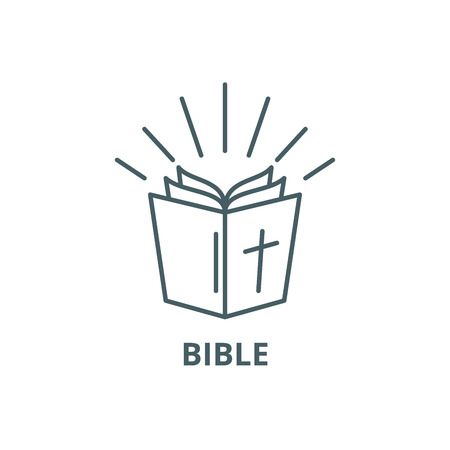 Bible line icon, vector. Bible outline sign, concept symbol, illustration