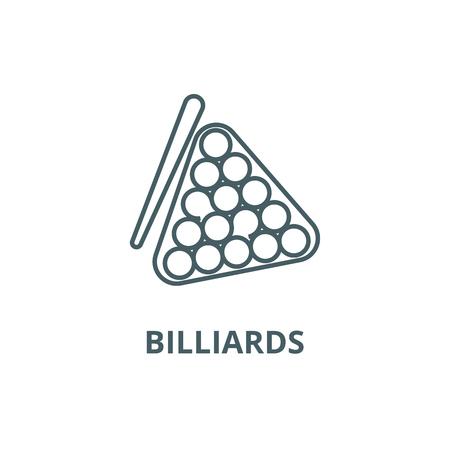 Billiards line icon, vector. Billiards outline sign, concept symbol, illustration