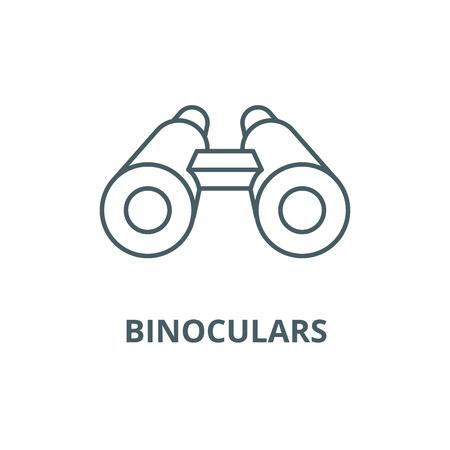 Binoculars line icon, vector. Binoculars outline sign, concept symbol, illustration