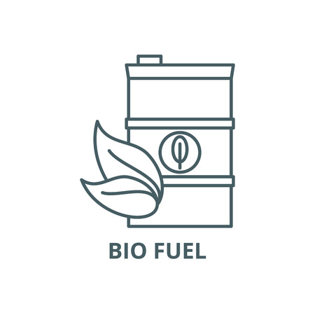 Bio fuel line icon, vector. Bio fuel outline sign, concept symbol, illustration