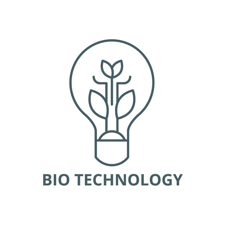 Bio technology line icon, vector. Bio technology outline sign, concept symbol, illustration