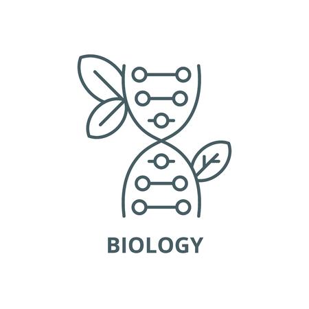 Biology line icon, vector. Biology outline sign, concept symbol, illustration