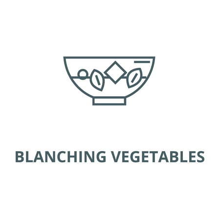 Blanching vegetables line icon, vector. Blanching vegetables outline sign, concept symbol, illustration Ilustração